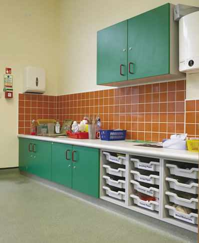 Ample space for storage furniture for schools